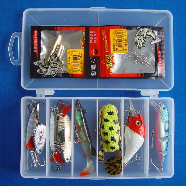 Free shipping,New Arrivals Fishing Lure Hard Plastic Minnow/Crank,Metal Spoon/Spinner,Soft Fish/Forg 10g-18g/5cm-9cm 8pcs/box