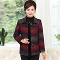 XL 4XL mujeres blazers y chaquetas más el tamaño de otoño invierno de algodón de Un Solo pecho bolsillos blazer femenino de manga larga