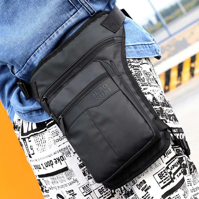 High Quality Nylon Men Thigh Drop Leg Bag Travel Shoulder Messenger Cross Body Bags Motorcycle Riding Hip Belt Waist Fanny Pack