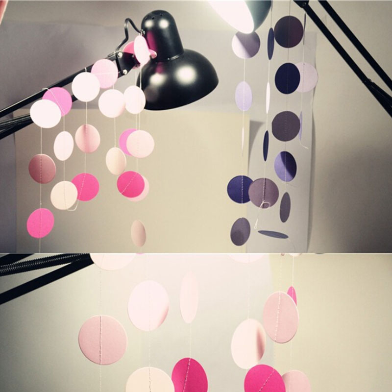 2m Colorful Round Card Paper Wedding Party Decoration Garland Handmade  Children Room Wall Hangings Props Decoration In Party DIY Decorations From  Home ...