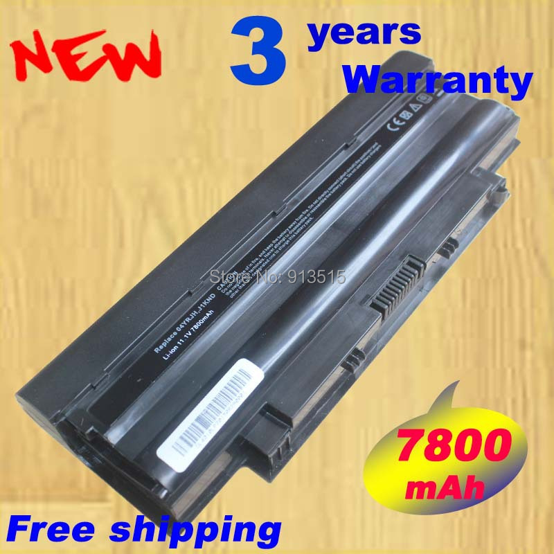 7800 мАч ноутбука Батарея j1knd для <font><b>Dell</b></font> Inspiron M501 M501R M511R N3010 n3110 N4010 N4050 N4110 N5010 n5010d <font><b>N5110</b></font> N7010 n7110
