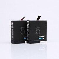 AOPULY 2Pcs GoPro hero 5 battery 1600mAh bateria hero5 Gopro5 battery for GoPro Go Pro Hero5 HERO 5 Camera AHDBT 501 AHDBT 501