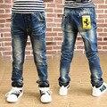 Весной и осенью носить джинсы 2017 новый большой мальчик штаны детей personnality стиль