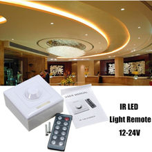 Smuxi 8A Wireless IR Remote LED Dimmer Switch Light 12 Key Adjustable Brightness Controller DC12-24V Dimmers(China)
