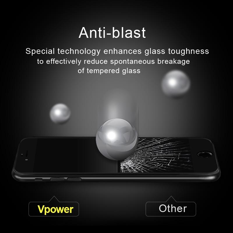 IPhone 7/7 plus Vpower Tempered Glass ekran qoruyucu Ultra İncə 3D - Cib telefonu aksesuarları və hissələri - Fotoqrafiya 3