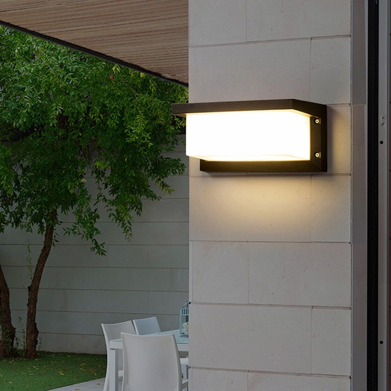 30W LED Wall Light Waterproof Porch Light Modern LED Wall Lamp Radar Motion Sensor Courtyard Garden Outdoor Light AC90~260V