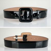 Hot Sale Leather Belts Free Shipping Fashion Pin Buckle Gold Black Luxury Punk Wide Belt Strap