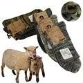 Calcetines de invierno caliente de los hombres Calcetines de lana espesar 100% contiene Real lana suave esencial confortables de alta calidad Hombre Calcetines
