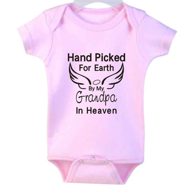 140f778a2690 ... 2018 NEW HOT SALES Newborn Infant Baby Boy Girl Letter And Wing  Printing Romper Short Sleeve ...