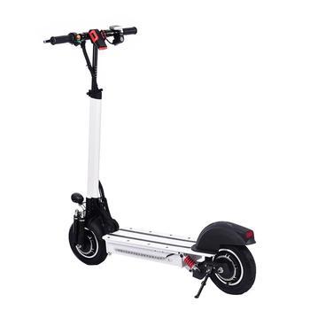 10 pouces Scooter électrique 48 V/22AH 60 km/h 1200 W alliage d'aluminium charge moto électrique coup de pied auto équilibrage Scooter adulte