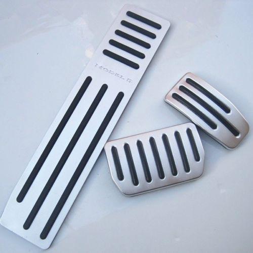 3pcs Aluminium alloy Accelerator Foot Rest Modified Pedal Pad for Tesla Model S Pedals