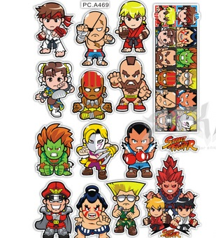 High quality For street fighter Q cartoon DIY car sticker and decals cool modified accessories cool 3d zinc alloy devil style decorative diy sticker for car silver
