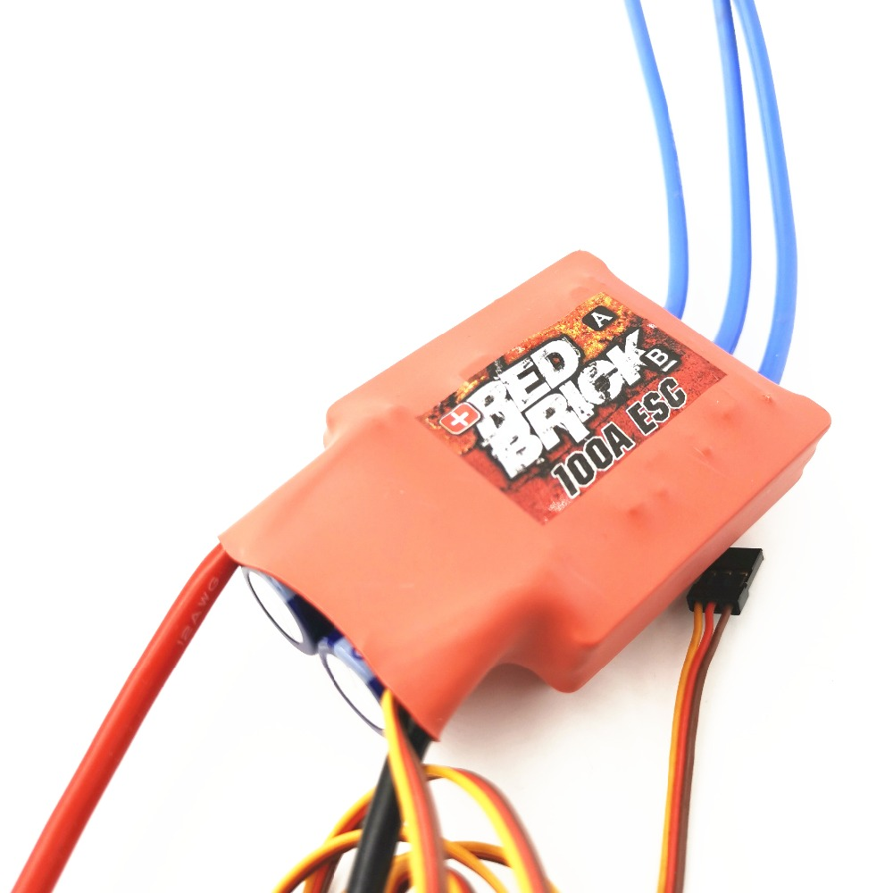 Red Brick HV 100A Brushless ESC Electronic Speed Controller water-cooled ESC 6S-10S for RC Boat (No reversing) image