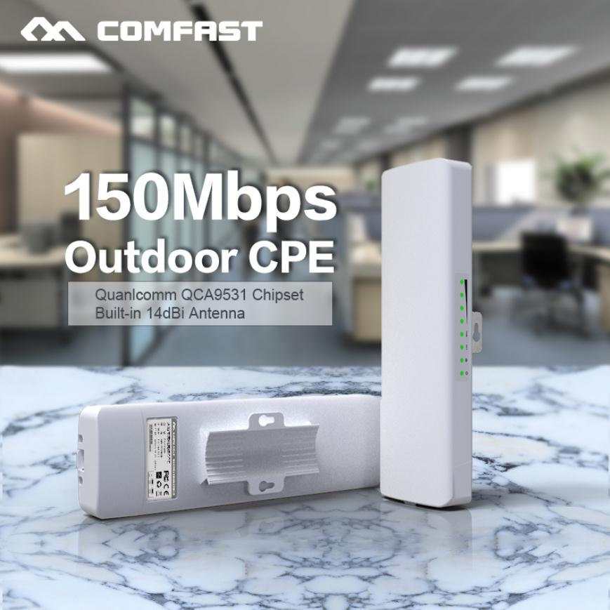 Comfast CF-E214NV2 2.4G routeur extérieur sans fil 2 KM amplificateur de signal WIFI amplificateur WDS pont réseau 14dBi antenne accès wi-fi