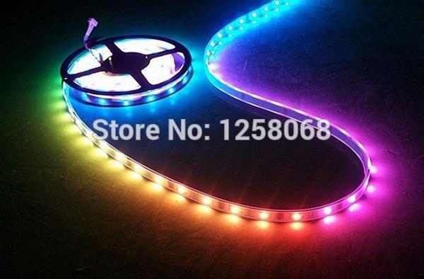 led strip 15m/lot WS2811 Magic LED Strip 5050 RGB SMD Intelligent Strip Light Dream Color ip67 waterproof dc12v