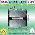 [B146] 7.4 V, 5000 mAH, [40116135] Polímero de íon de lítio/bateria de Iões de lítio para tablet pc, e-book, palestrante