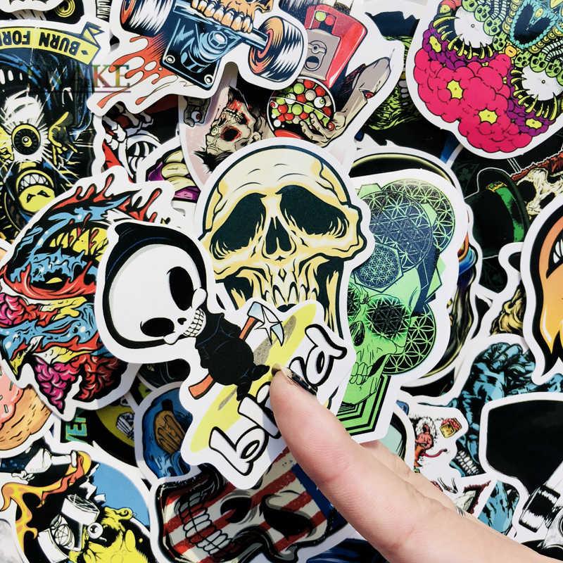 50 шт. панк наклейка с изображением скелета граффити Skull Rock мотоциклетные Стикеры s DIY Скрапбукинг ноутбука чемодан для скейтборда Гитара автомобилей