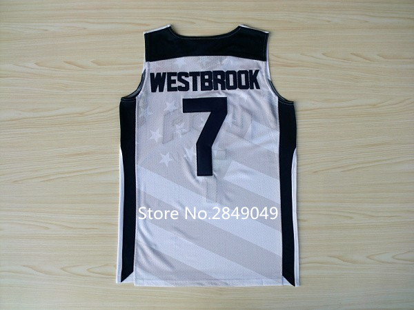 e0dcd16f3 ... discount code for aliexpress buy new rare 7 russell westbrook dream team  usa throwback basketball jersey