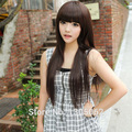 Free shipping Women' Stylish Charming Sexy hair jewelry Womens Long Fashion Natural Straight hair accessories for wigs