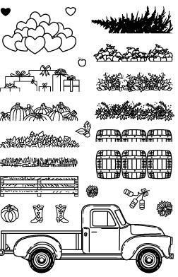farm/car/Transparent Clear Stamps for DIY Scrapbooking/Card Making/Kids Christmas Fun Decoration Supplies