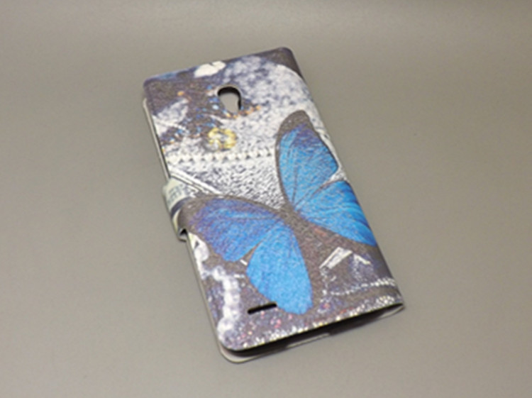 11 species pattern Ultra thin butterfly Flower Flag vintage Flip Cover for <font><b>Alcatel</b></font> One Touch Pop 2 5