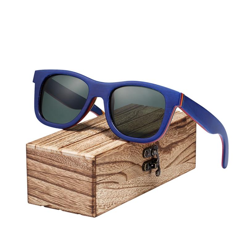 aceaa5462b BARCUR Skateboard Wood Sunglasses Eyeglasses Polarized for Men ...