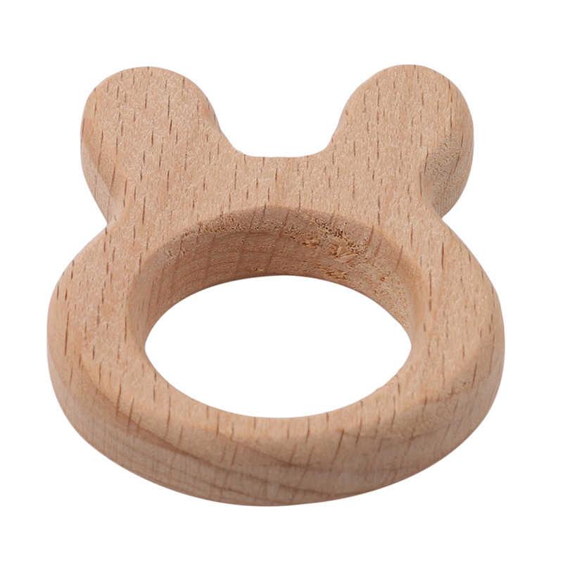 Детское дерево мультфильм форма DIY бусины, прорезыватель деревянный Прорезыватель зубной уход детские трофеи для детей Детские трофеи 4 типа