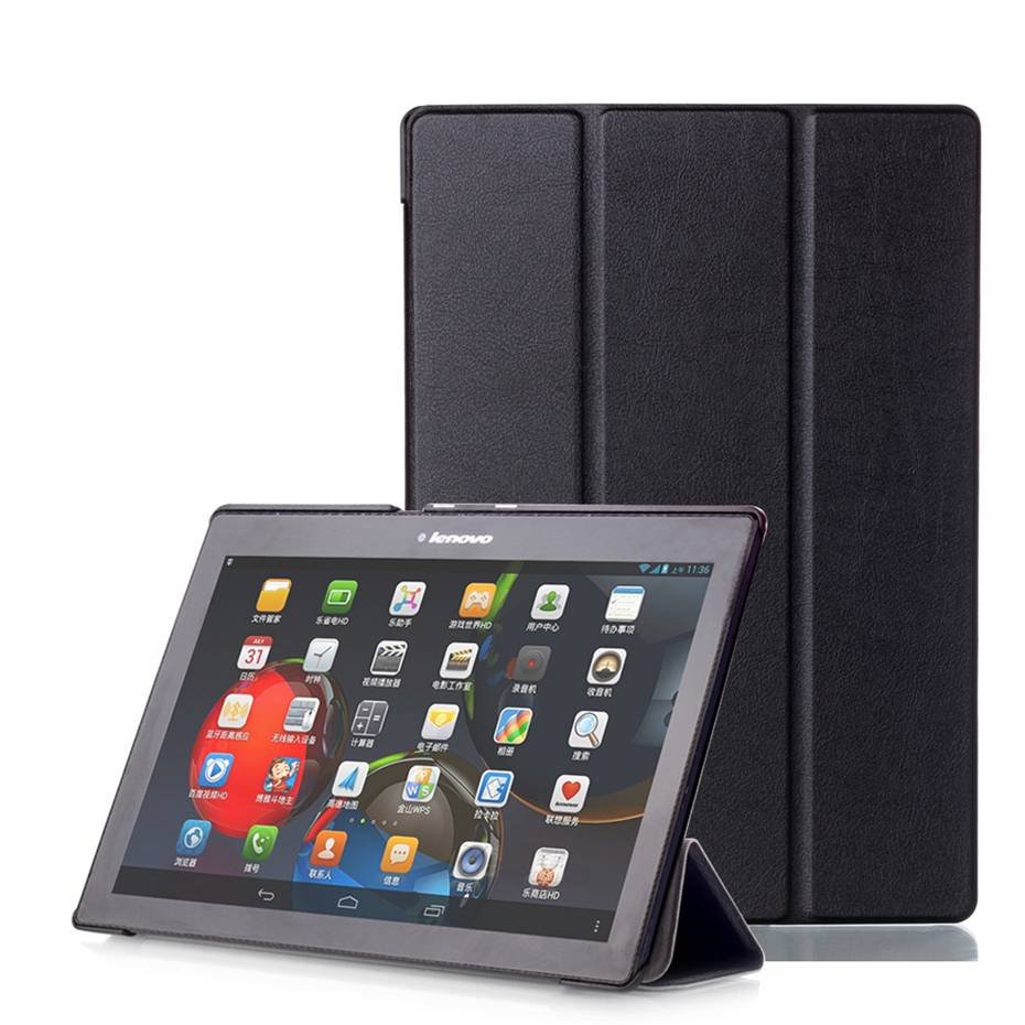 For lenovo tab 2 a10-30 Case Smart Cover Case Auto Wake Up/Sleep Function PU leather case for lenovo tab 2 a10-30 ultra thin smart flip pu leather cover for lenovo tab 2 a10 30 70f x30f x30m 10 1 tablet case screen protector stylus pen