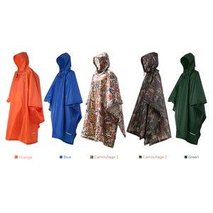Image 3 - TOMSHOO çok fonksiyonlu hafif yağmurluk Hood ile açık kamp çadırı Mat yürüyüş bisiklet yağmur kılıfı panço yağmurluk