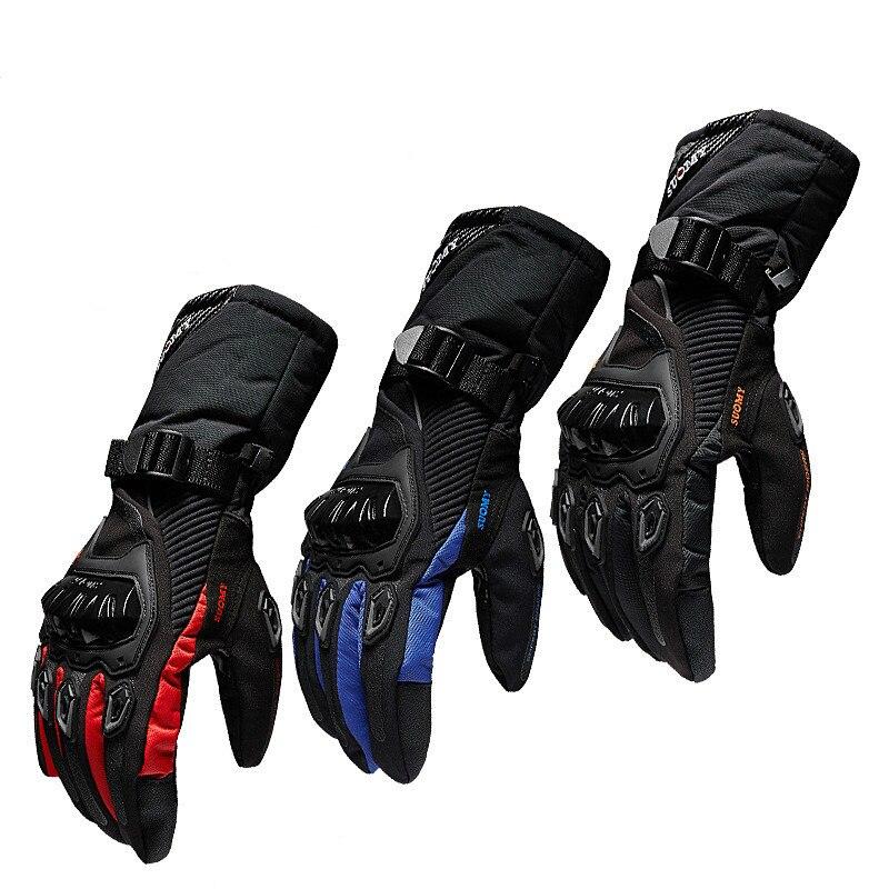 Nuevos guantes de la motocicleta del invierno caliente impermeable estaciones enteras montar motociclistas guantes todoterreno hombres/mujeres