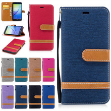Cases For Huawei P10 Lite P10 Plus Coque Etui Cover Fashion Denim Jeans Wallet Leather Silicon Bags For Huawei P10Lite Capinhas