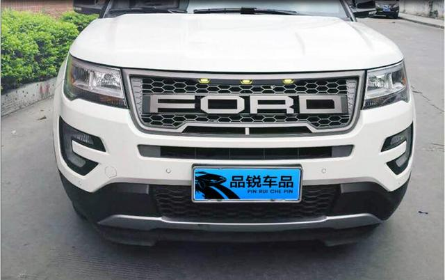 Jioyng Abs Chrome Car Front Per Mesh Grille Around Trim Racing Grills For Ford Explorer 2016 2017 2018 In From Automobiles Motorcycles On