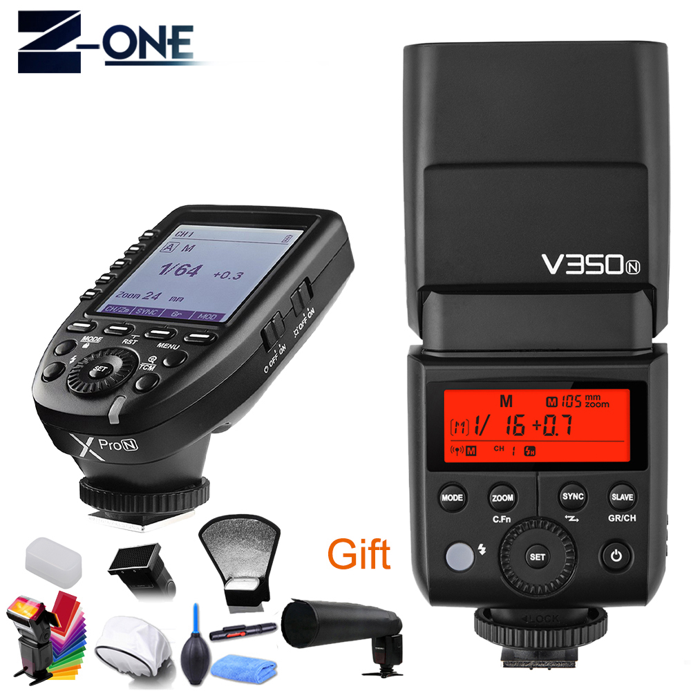 Godox V350N TTL HSS 1/8000s 2.4G X System Camera Speedlite Flash with Built-in Li-ion Battery + XPro-N Transmitter for NikonGodox V350N TTL HSS 1/8000s 2.4G X System Camera Speedlite Flash with Built-in Li-ion Battery + XPro-N Transmitter for Nikon