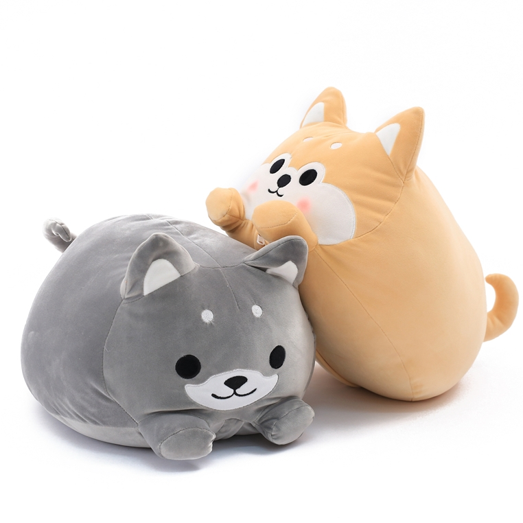 Cartoon dog plush pillow shiba inu toys for children gift Bedroom cushion 80cm large super cute plush toy dog bulldog husky shiba pug pillow down cotton filling as a gift to the children and friends
