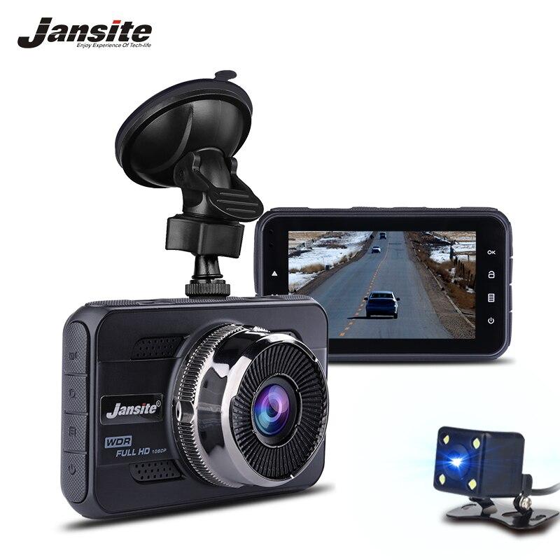 Jansite Car DVR Dual Lens Car Camera Full HD 1080P Video Recorder FHD 1080P With Rear view DVR Dash cam Auto Registrator bigbigroad wifi car mini dvr driving video recorder dash cam dual lens car black box front cam with rear view camera hd 1080p