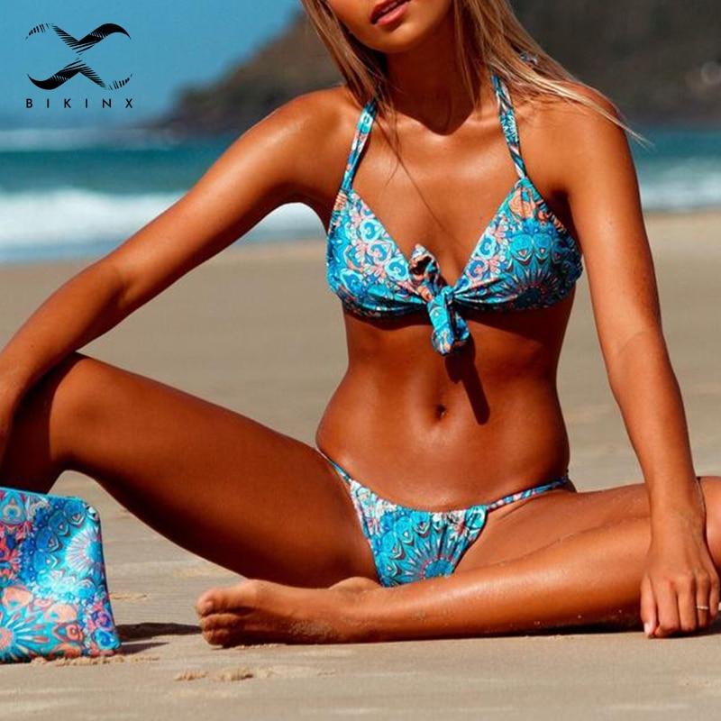 dd74cadc2ab Detail Feedback Questions about Bikinx Extreme bikini micro bathing suit  Halter push up swimsuit triangle swimwear women bathers Floral print brazil  bikini ...