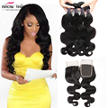 Peruvian Body Wave With Closure 3 Bundles Peruvian Virgin Hair Body Wave With Closure 8a Grade Unprocessed Human Hair Weave