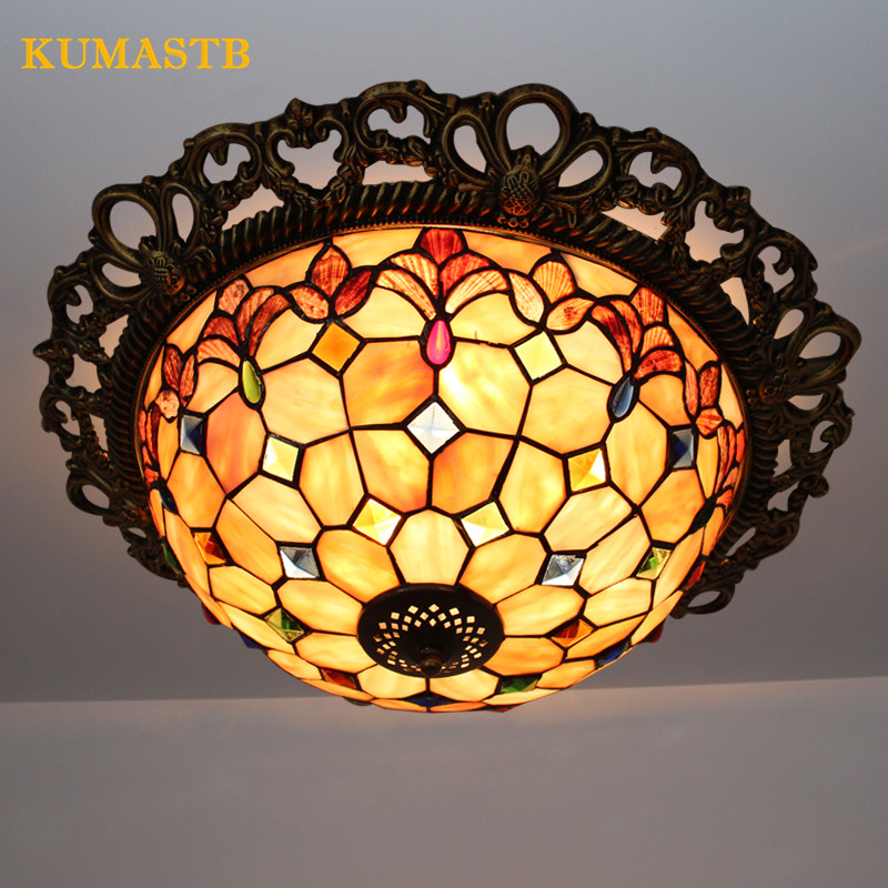 Color Shells Ceiling Lamp for Bedroom Living Room Light European Dinning Room Lamp Children Room Ceiling Light Fixtures