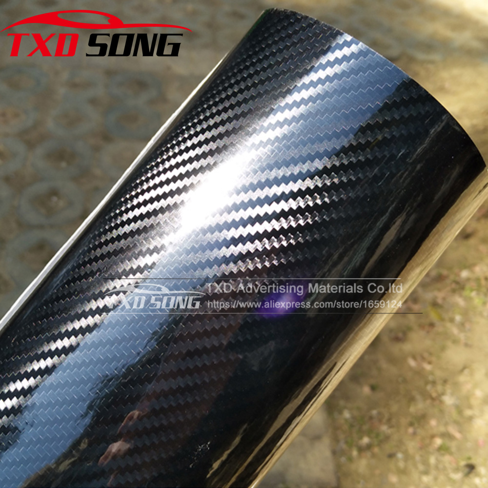 Ultra Gloss 5D Carbon Fiber Vinyl Wrap 3D Texture Super Glossy 5D Carbon Film With Size: 10/20/30/40/50/60x152cm