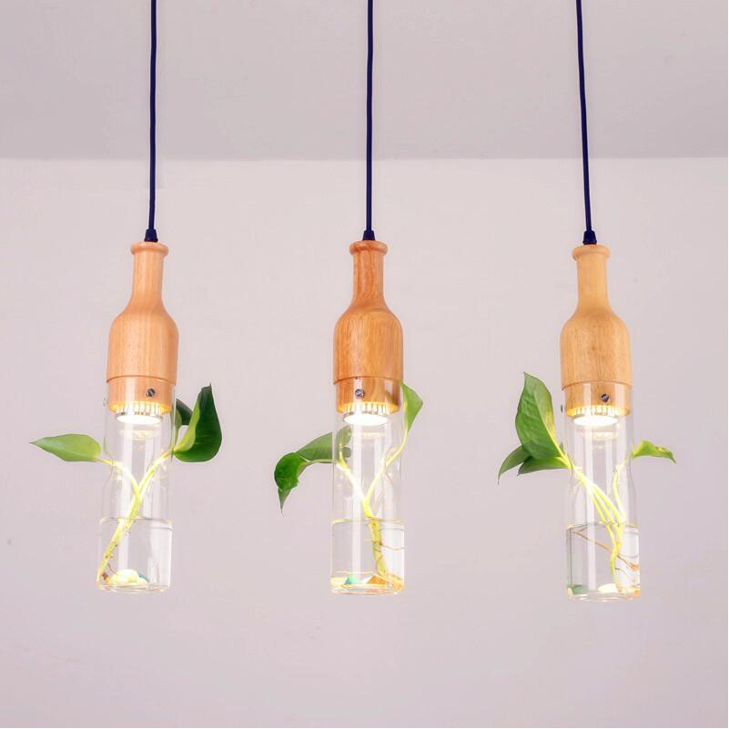 Modern pendant lights for restaurant perfume bottle crystal Pendant lamp Single head bar dining room fashion crystal Light modern pendant lights for restaurant glass bottle pendant lamp 1 3 5head bar dining room fashion plants hanging lamp