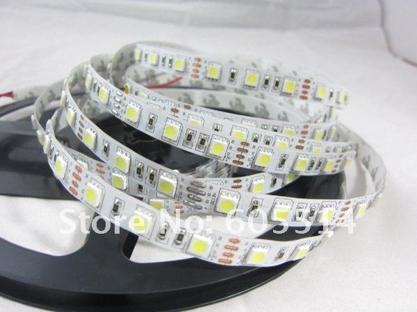 [Seven Neon]Wholesale 50meters SMD 5050 non-waterproof 72W LED Flexible Strip Light nature white 60LED/meter 300LED 5 meter/lot