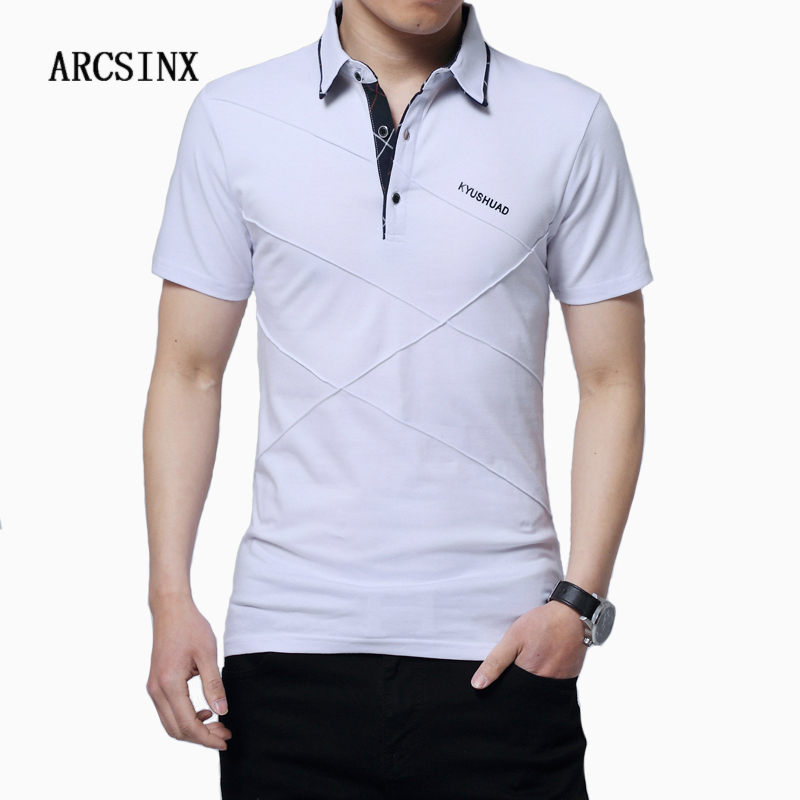 ARCSINX Polo Shirt Men Plus Size 5XL 4XL 3XL Short Sleeve Men's Polo Summer Mens Polos Shirts Slim Fit Cotton Men's Shirts