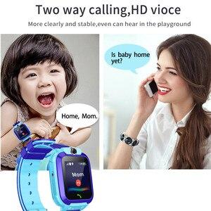 Image 3 - S12 Đồng Hồ Thông Minh Trẻ Em IP67 Thể Thao Chống Thấm Nước Đồng Hồ Thông Minh Android Trẻ Em Cuộc Gọi SOS Đồng Hồ Thông Minh Smartwatch với Camera Sim HD Cảm Ứng màn hình