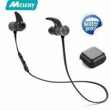 Melery BX343 IPX5 Bluetooth Fone De Ouvido Sem Fio Fones de Ouvido fone de Ouvido Fones De Ouvido Com Microfone Para O Esporte Telefone Magnético À Prova D' Água