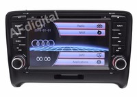 Free Shipping Wince 6.0 7 INCH 2 Din In Dash Car DVD GPS Radio Navigation system for Audi TT