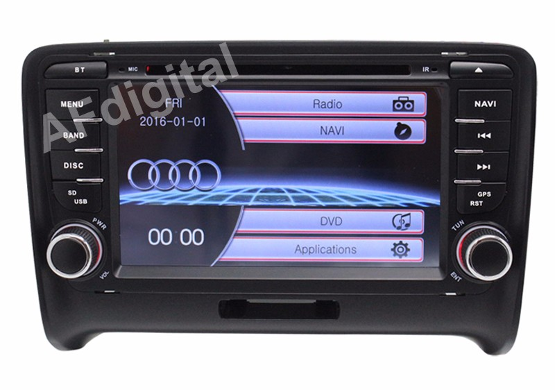 Livraison gratuite Wince 6.0 7 pouces 2 Din dans le tableau de bord voiture DVD GPS système de radionavigation pour Audi TT