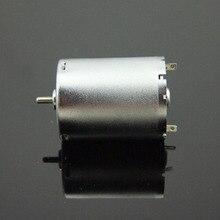 Short Shaft 370 DC Motor Small Bright Metal Shell Pump Motor DIY Model Accessories B3