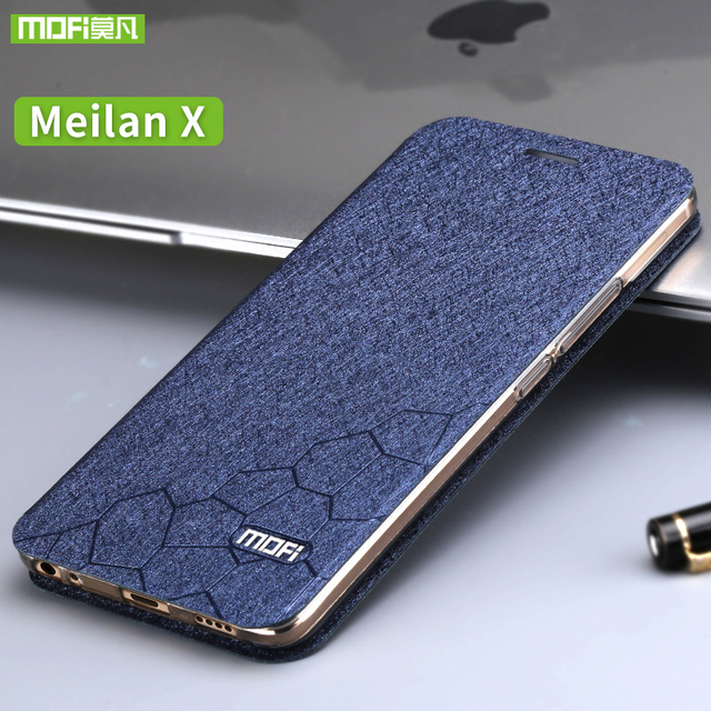 Meizu meilan x case Luxury flip Leather case cover silicone back cover original Mofi meizu m3x case M682Q 5.5 hard metal fundas