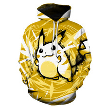 2019 Men Hoodies 3D Printed Hooded Tracksuits Pokemon Fashion Pullover Streetwear Male