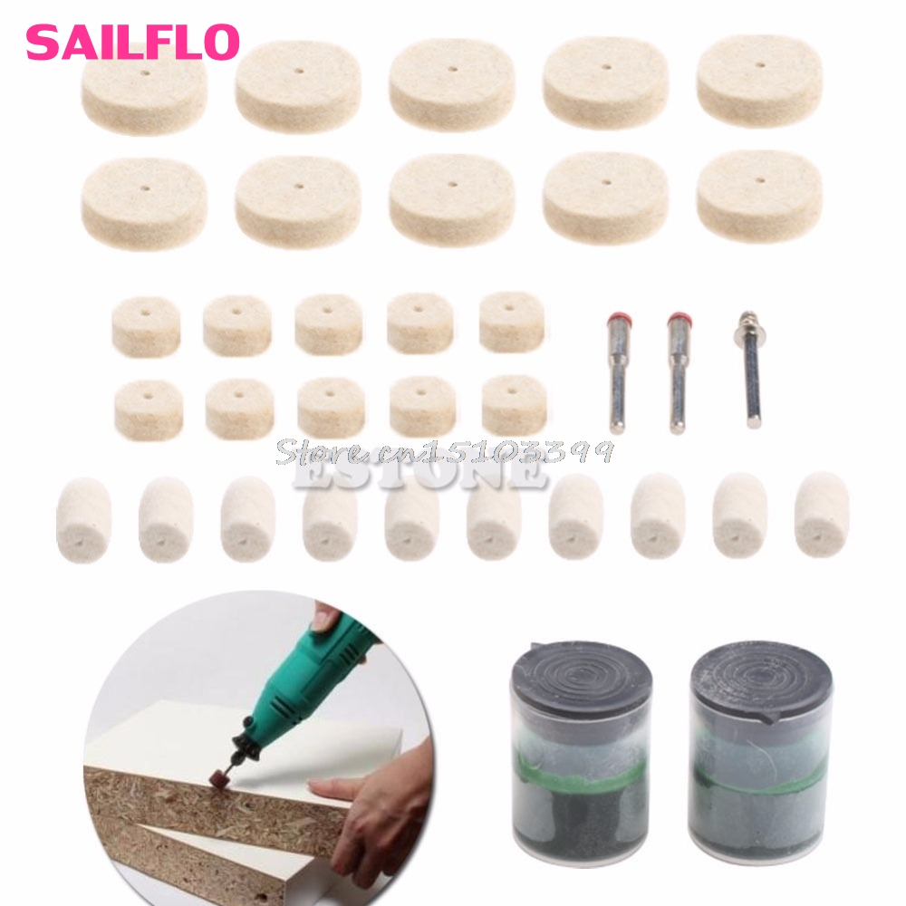 35Pcs Soft Felt Polishing Buffing Burr Wheel Kit For Dremel Rotary Tools 1/8 #G205M# Best Quality hdcrafter driving sunglasses polarized men high quality retro aolly coating mirror sun glasses male brand designer oculos 017